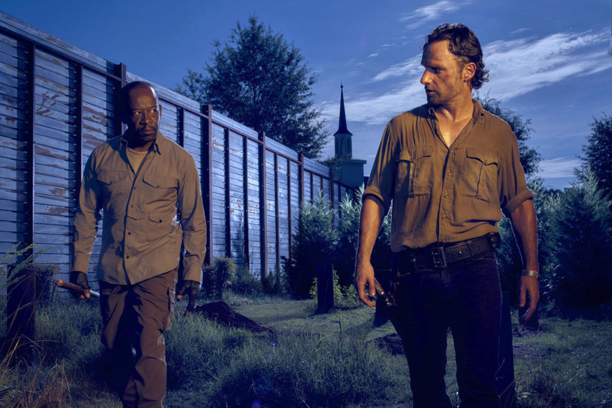 Walking Dead - Andrew Lincoln i Lennie James